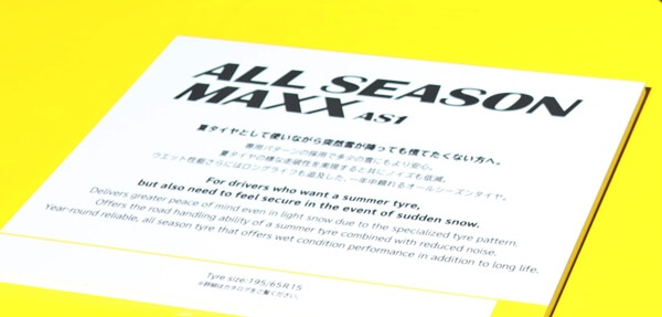 ALL SEASON MAXX AS1のサイズ